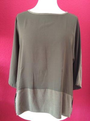 Max Volmáry Shirt Tunic green grey copper rayon