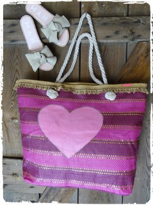Panier rose-violet
