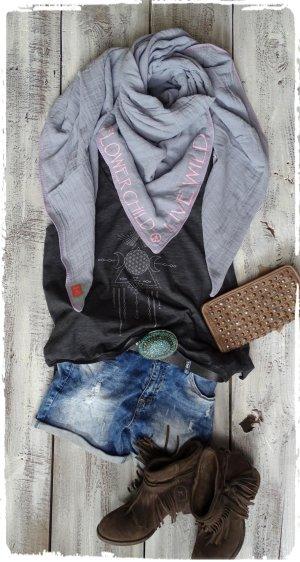 Pañuelo gris-rosa claro Algodón