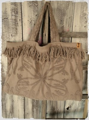 Pouch Bag light brown cotton