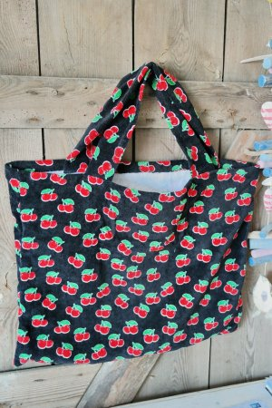Maxi Frottee Beach Bag Cherry Kirschen