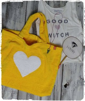 Pouch Bag yellow cotton