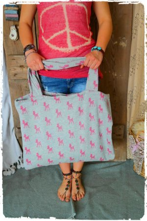 Canvas Bag light grey-pink cotton