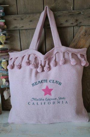 Bolso de tela rosa claro-rosa