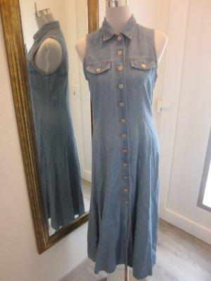 Maxi Jeans Kleid zum Knöpfen Gr 38