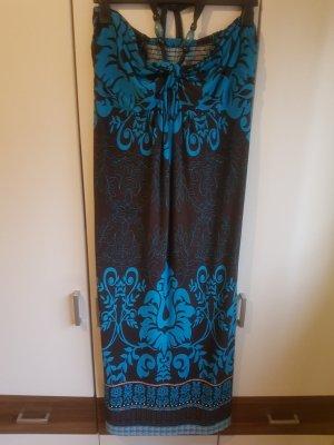 Bodyflirt Maxi-jurk bruin-lichtblauw