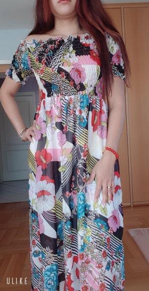 100% Fashion Abito di chiffon multicolore
