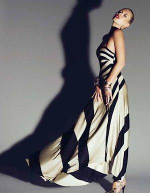 Maxi Kleid dress by Kate Moss for Top shop Asymmetric cross over back schwarz gold