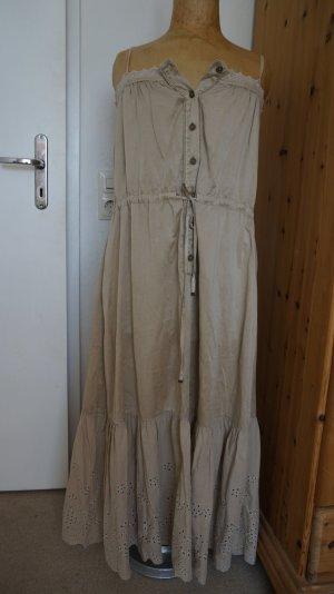 Maxi-Kleid mit Lochspitze 55% Seide 45%Baumwolle