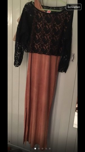 Maxi Kleid mit Mesh Shirt Made in italy