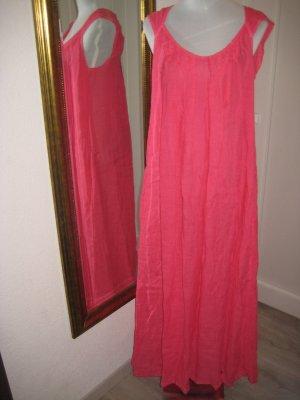 Maxi Leinen Kleid Pink Gr S Neu
