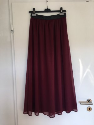 Forever 21 Maxi gonna bordeaux-rosso scuro