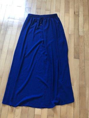Zara Basic Falda larga azul oscuro-azul