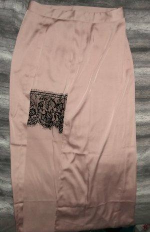 Miss Selfridge Falda larga negro-rosa empolvado
