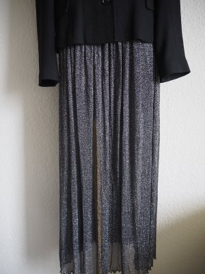 Atmosphere Maxi Skirt silver-colored-black
