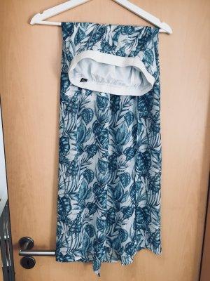 H&M Maxi rok wit-blauw