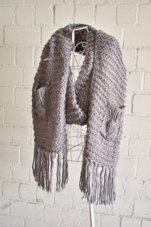 Orsay Wollen sjaal grijs Gemengd weefsel