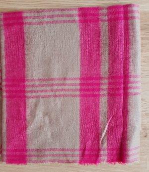 Maxi Schal/ Stola von Zara, Pink/Beige