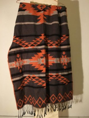 Maxi-Schal von ONLY in grau/orange