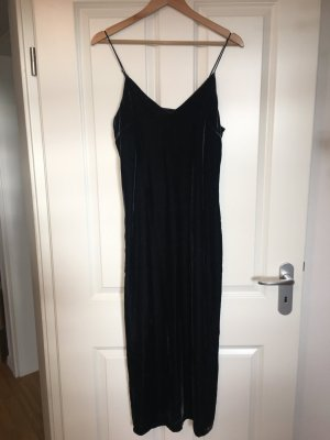 Maxi Slipdress / Samtkleid in Nachtblau, neu!