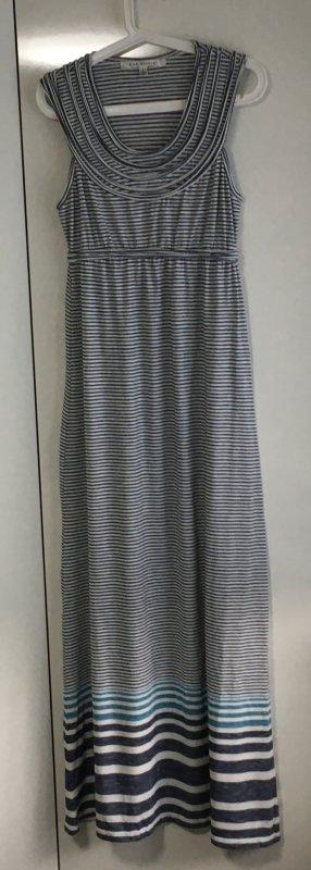 Maxi Sommer Kleid weiss / blau / türkis
