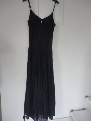 Zara Basic Maxi Dress blue-dark blue cotton