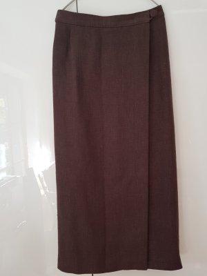 Wraparound Skirt dark brown