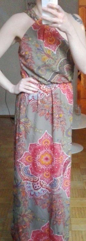 Esprit Vestido largo rojo-caqui