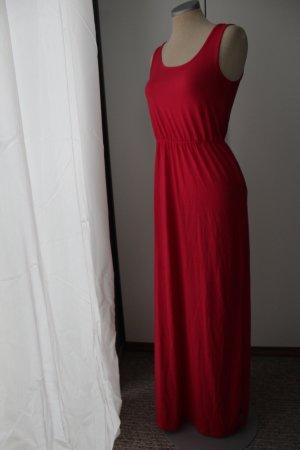 Maxikleid 1,45 m lang rot Gr. 34 XS Sommerkleid Kleid neu