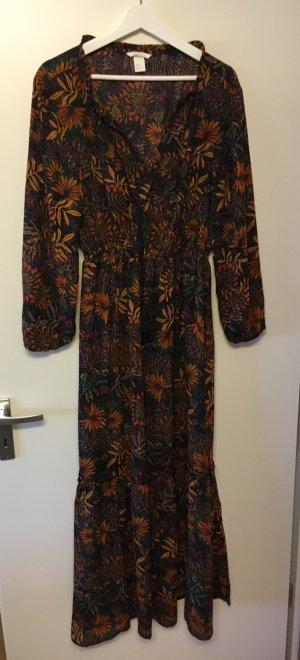Maxikleid 36 H&M S Kleid Herbstkleid