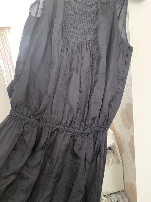 Vestido largo negro Seda
