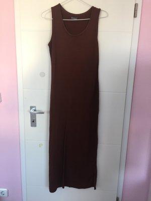 Pencil Dress cognac-coloured