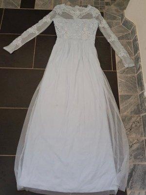 Maxikleid Abendkleid Coctailskleid Vila hellblau Gr. 42 (L/XL) € 70,- Neu Langes Kleid Spitzenkleid