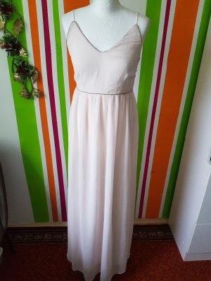 Maxikleid Abendkleid Coctailskleid Vila rosa silber Gr. S (36/38) Neu Langes Kleid