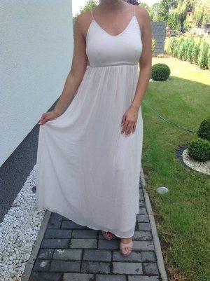Maxikleid Abendkleid Coctailskleid Vila rosa silber Gr. XS (34/36) Neu Langes Kleid