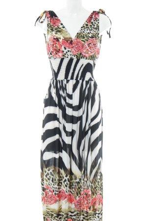 Maxi Dress animal pattern beach look