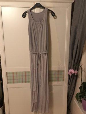 Made in Italy Vestido largo gris claro Algodón