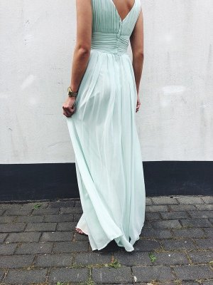 Asos Ball Dress baby blue-turquoise polyester