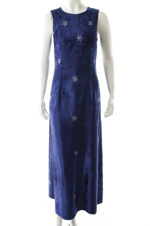Maxikleid blau Vintage-Look