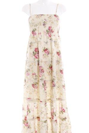 Maxi abito motivo floreale stile Gypsy