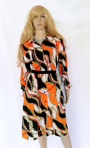 Maxikleid Blusenkleid Langes Kleid Versace Style Gr.S neu