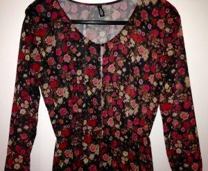 Maxikleid Boho-Kleid romantic  Divided Rosen floral 34