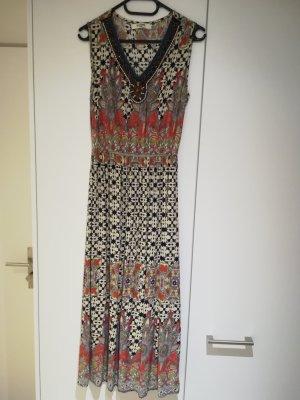 Maxi-jurk licht beige-donkerblauw