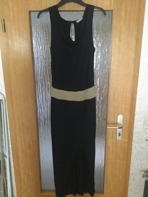 Maxi Dress dark blue-sand brown viscose