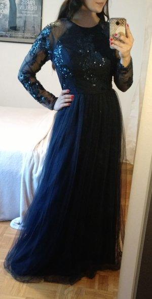Maxikleid ChiChi London Gr. 38 M Abendkleid blau abiball festlich Hochzeit ball