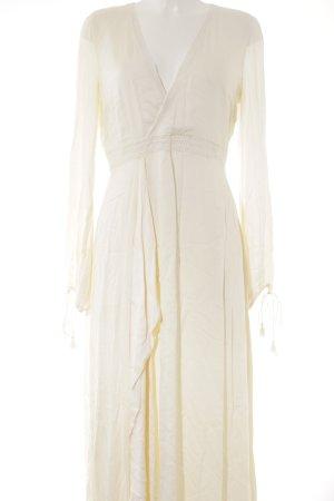 Vestido largo crema-beige claro diseño de espiga Estilo playero