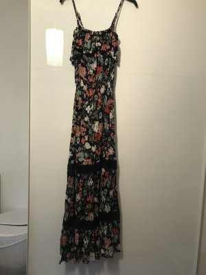 Maxikleid Damen 38 S Flower
