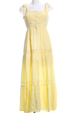 Maxi-jurk geel Boho uitstraling