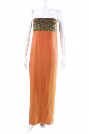 Maxikleid gelb-orange