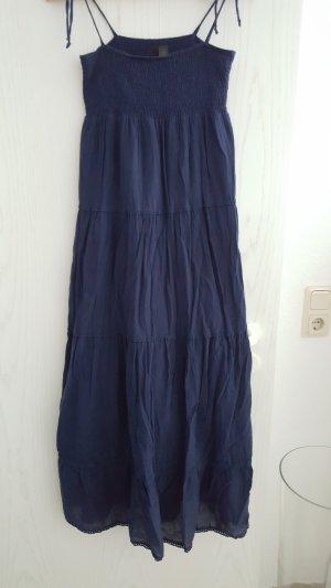 Vestido largo azul oscuro